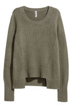 Rib-knit jumper - Khaki green - Ladies | H&M 2