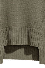 Rib-knit jumper - Khaki green - Ladies | H&M 3