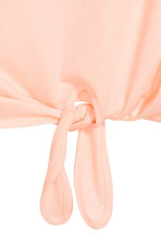 Tie-front top - Powder pink -  | H&M 3