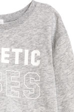 Cropped sports top - Grey marl - Kids | H&M CN 3
