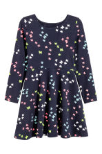 Jersey dress - Dark blue/Butterflies - Kids | H&M 2