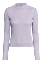 Rib-knit jumper - Light lavender blue - Ladies | H&M 2