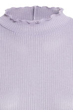 Rib-knit jumper - Light lavender blue - Ladies | H&M 3
