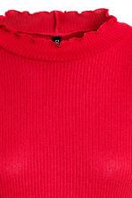 Rib-knit jumper - Red - Ladies | H&M GB 3