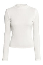 Rib-knit jumper - White - Ladies | H&M 2