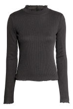 Rib-knit jumper - Black - Ladies | H&M CN 2