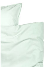 Washed cotton duvet cover set - Mint green - Home All | H&M CN 4