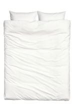 Washed cotton duvet cover set - White - Home All | H&M CN 2