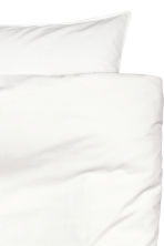 Washed cotton duvet cover set - White - Home All | H&M CN 4