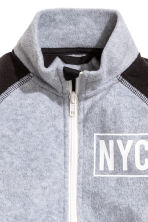 Fleece jacket with print motif - Grey marl/New York -  | H&M CN 3