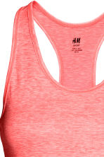 Sports vest top - Coral marl - Ladies | H&M CN 4