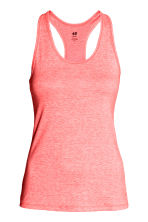 Sports vest top - Coral marl - Ladies | H&M CN 2