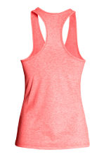 Sports vest top - Coral marl - Ladies | H&M CN 3