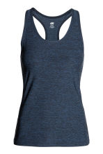 Sports vest top - Dark blue marl - Ladies | H&M 2