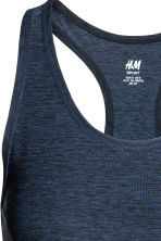 Sports vest top - Dark blue marl - Ladies | H&M 3