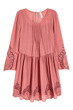 Hole-embroidered dress - Dark old rose - Ladies | H&M CN 2