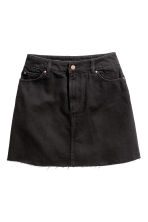 Short denim skirt - Black - Ladies | H&M 2