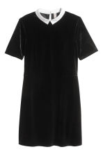 Short velour dress - Black - Ladies | H&M 2