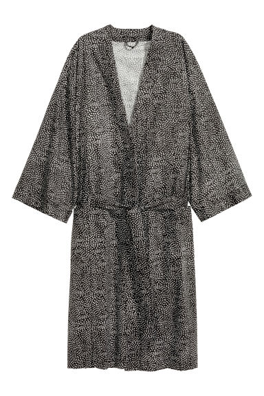 Robe de chambre à pois - Gris anthracite - Home All | H&M FR 1