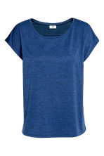 Sports top - Dark blue marl - Ladies | H&M CN 2
