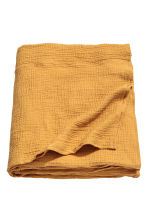 Crinkled cotton bedspread - Mustard yellow - Home All | H&M CN 1