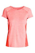 Sports top - Coral marl - Ladies | H&M 2