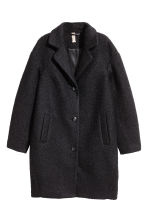Wool-blend bouclé coat - Black - Ladies | H&M 2