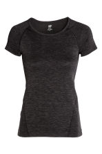 Seamless sports top - Black marl - Ladies | H&M 2