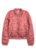 Quilted bomber jacket - Light brick - Ladies | H&M CN 2