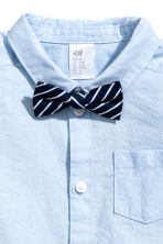 Cotton shirt with bow tie - Light blue - Kids | H&M 2