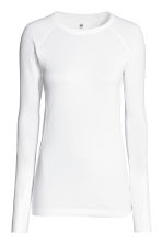 Seamless sports top - White -  | H&M 2