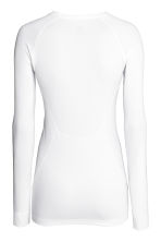 Seamless sports top - White -  | H&M 3