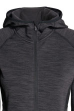Fleece jacket with a hood - Dark grey marl - Ladies | H&M CN 3