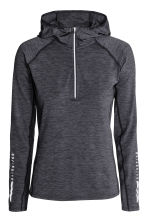 Hooded winter running top - Dark grey marl - Ladies | H&M CN 1