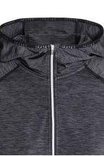 Hooded winter running top - Dark grey marl - Ladies | H&M 2