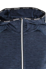 Hooded winter running top - Dark blue marl - Ladies | H&M CN 4
