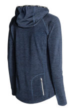 Hooded winter running top - Dark blue marl - Ladies | H&M CN 3
