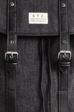 Cotton canvas backpack - Black -  | H&M 3