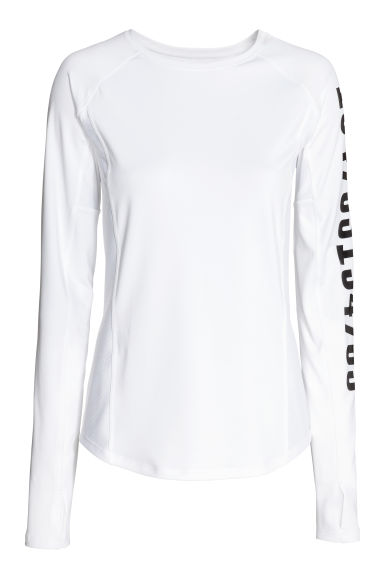 Running top - White - Ladies | H&M 1