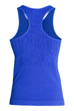 Seamless running vest - Blue - Ladies | H&M CN 3