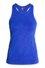 Seamless running vest - Blue - Ladies | H&M CN 2