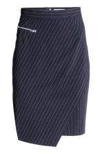 Pinstripe skirt - Dark blue/Pinstriped - Ladies | H&M 2