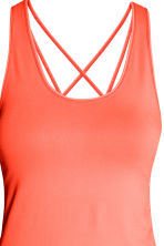 Seamless yoga vest top - Neon coral - Ladies | H&M 4