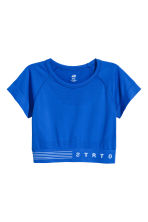 Short sports top - Blue - Ladies | H&M 2