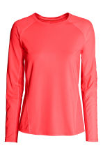 Sports top - Neon coral - Ladies | H&M 2