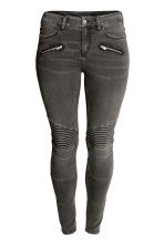 H&M+ Biker trousers - Dark grey denim - Ladies | H&M CA 2