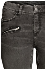 H&M+ Biker trousers - Dark grey denim - Ladies | H&M CA 3