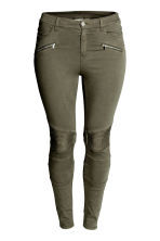 H&M+ Biker trousers - Khaki green - Ladies | H&M CN 2