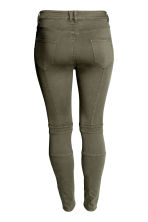 H&M+ Biker trousers - Khaki green - Ladies | H&M CN 3