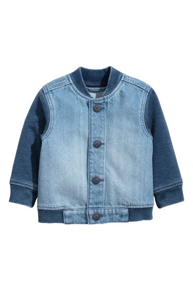 Denim baseball jacket - Denim blue -  | H&M 1